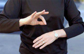 Professeur de langue des signes