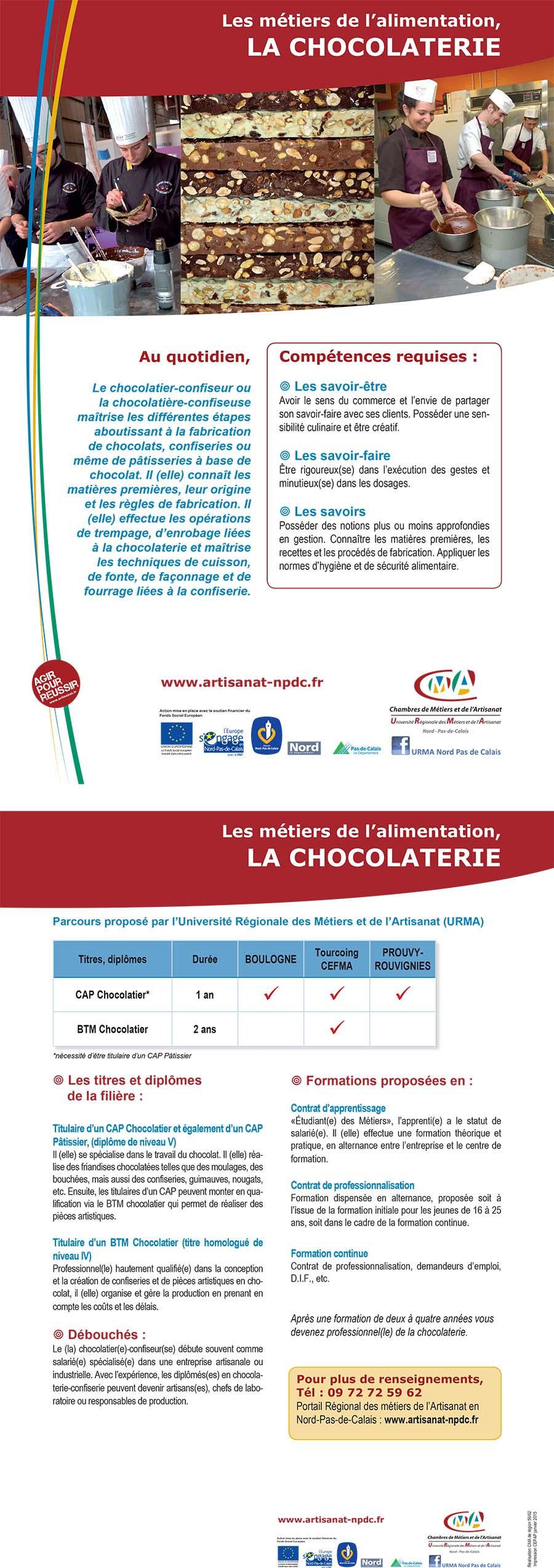 Offre chocolatier contrat de professionnalisation - Contrat d apprentissage chambre des metiers ...