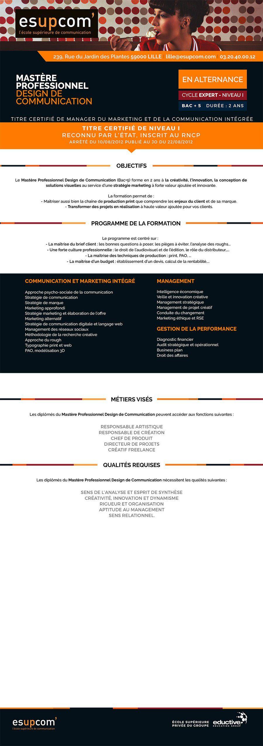 MASTÈRE PROFESSIONNEL DESIGN DE COMMUNICATION