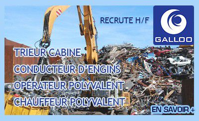 Galloo France recrute dans le recyclage des métaux
