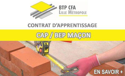 BTP CFA Lille Métropole recherche des maçons (H/F) en apprentissage