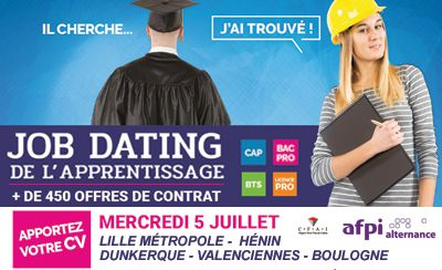 Job Dating de l'Apprentissage le mercredi 5 juillet