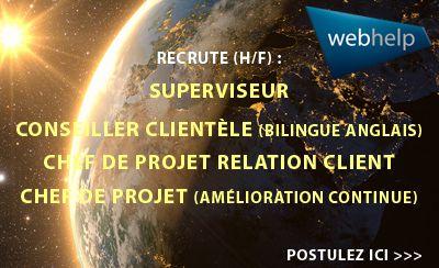 Webhelp recrute plusieurs profils