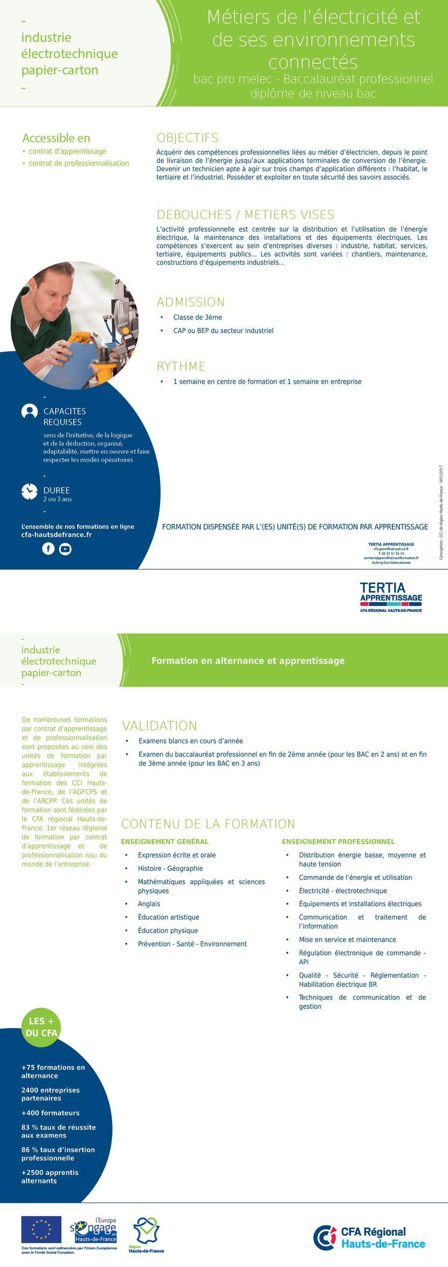 BAC PRO MELEC - Métiers de l'électricité et de ses environnements connectés