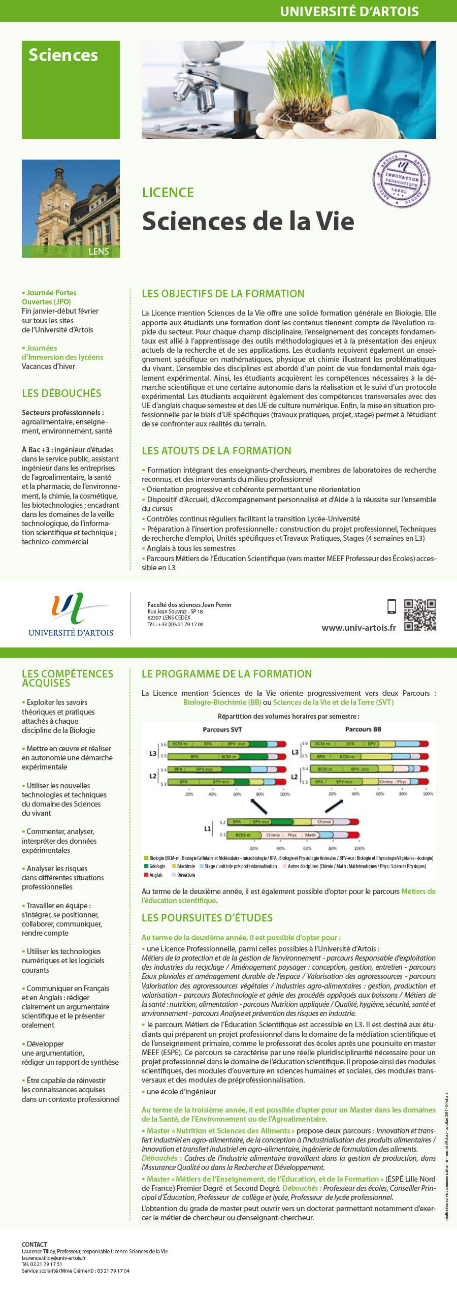 Licence Biologie-biochimie