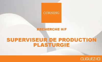 Corning recherche un Superviseur de production pour son site de Borre