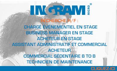 Ingram Micro poursuit ses recrutements à Lesquin !