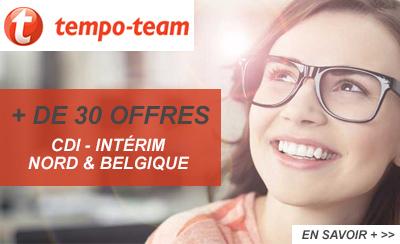 Tempo Team recrute dans la région et en Belgique