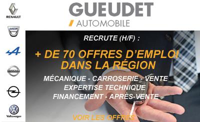 Le groupe Gueudet recherche plus de 70 collaborateurs (H/F)
