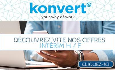 Konvert recrute en intérim en Belgique