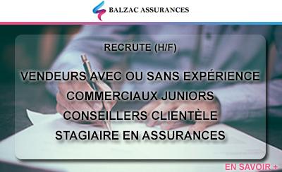 Balzac Assurances recherche des collaborateurs à Lille et Valenciennes