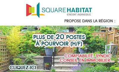 Square Habitat recrute dans les métiers de l'Immobilier (H/F)