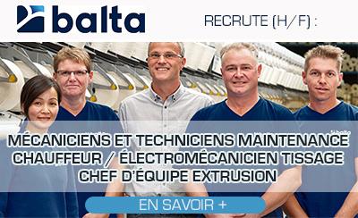 Balta Group recherche plusieurs profils (H/F)