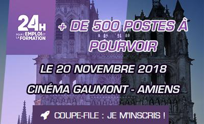 Les 24H pour l'Emploi et la Formation reviennent à Amiens