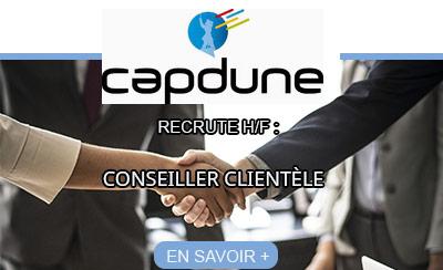 CAPDUNE recrute un conseiller clientèle H/F