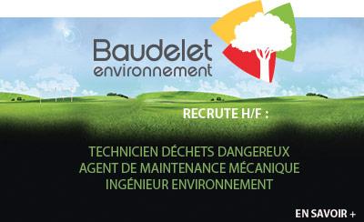 Baudelet Environnement recrute !